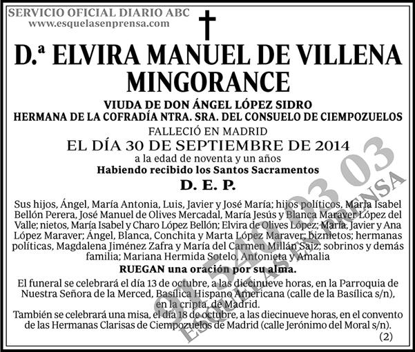 Elvira Manuel de Villena Mingorance